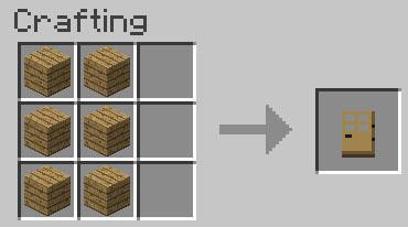Minecraft дверь она является можно так